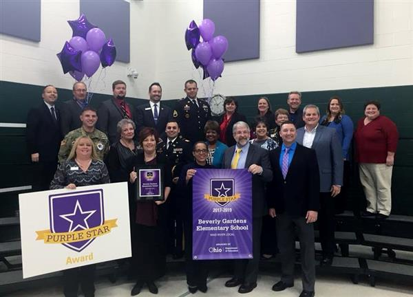 Beverly Gardens Receives Purple Star Award